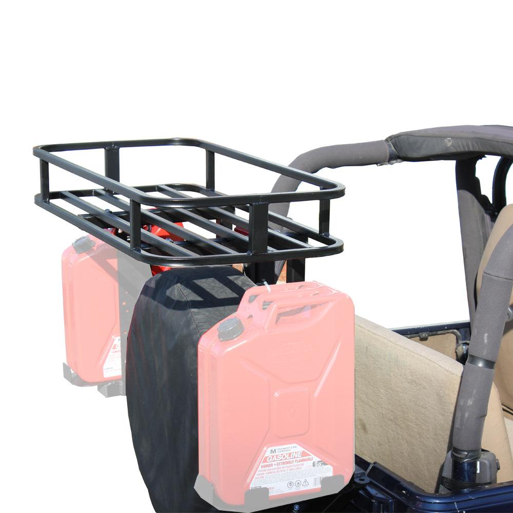 "Tuff Stuff® Tire Carrier Mounted Storage & Cooler Rack System for 2"" x 2"" Carriers - Tuff Stuff 4x4 & Tuff Stuff Overland"