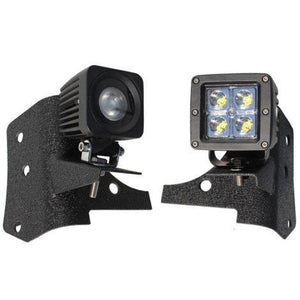 "Allows you to mount nearly any type of light high for long range light illumination Add more lights without drilling or adding lights to your roof, limiting clearance Sleek and low profile look, when used with the Tuff Stuff®, LED Dually style 2""X2"" lights (shown in picture & sold separately)"