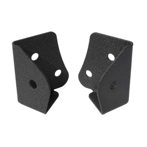 "QTY. 2 - TEXTURE POWDER COATED WINDSHIELD MOUNTING BRACKETS PRE-DRILLED 1/2"" HOLES EXCLUSIVE 18 MONTH WARRANTY"