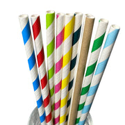 Gaint Paper Straws - Plain/Striped/Customized Printing