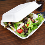 8 x 8 inch, 9 x 9 inch, 10 x 10 inch Bagasse Sugarcane Clamshell