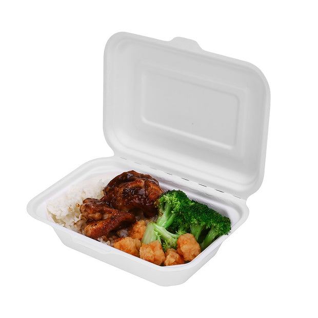 600ml 7 inch x 5 inch Bagasse Sugarcane Food Box