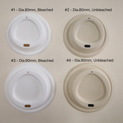 Fiber lids for coffee cups