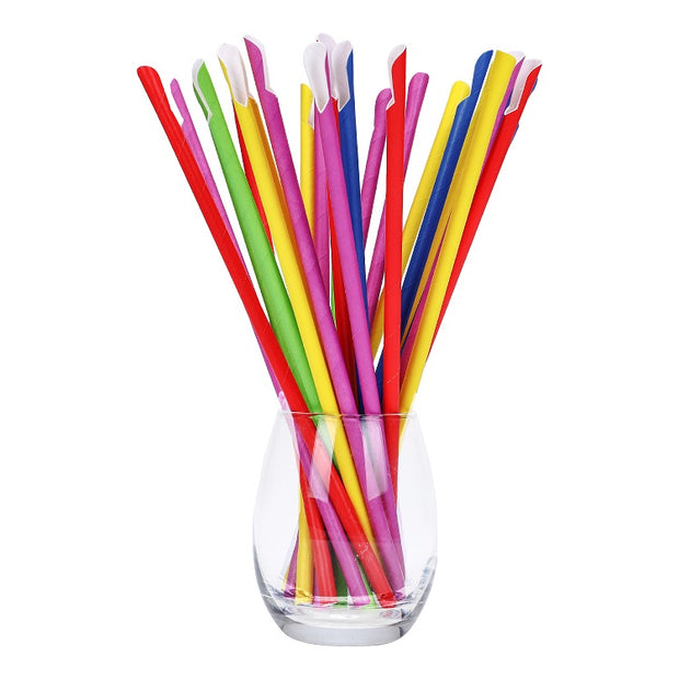 Sharp End Cut Paper Straws - Plain/Striped/Customized Printing