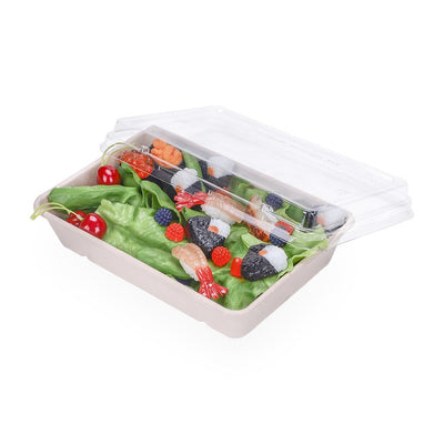 28oz Rectangular container with lid