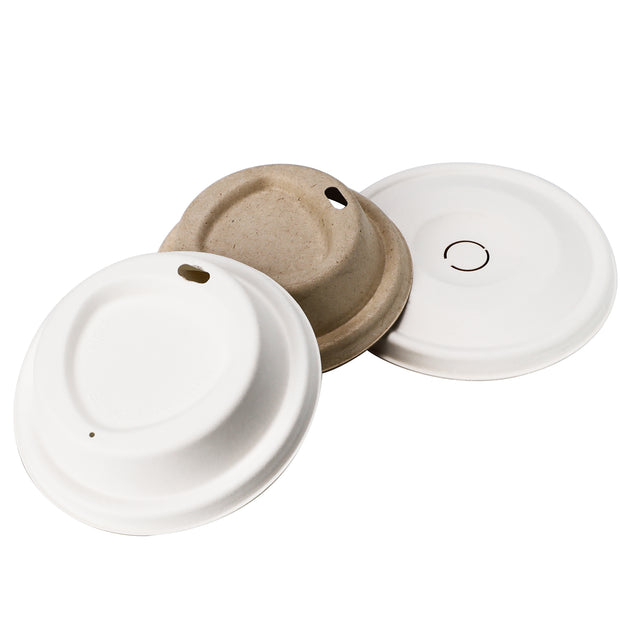Bagasse Sugarcane Fiber Lids for Coffee Cups
