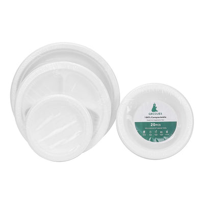 Sugarcane Bagasse Plate Retail Packaging