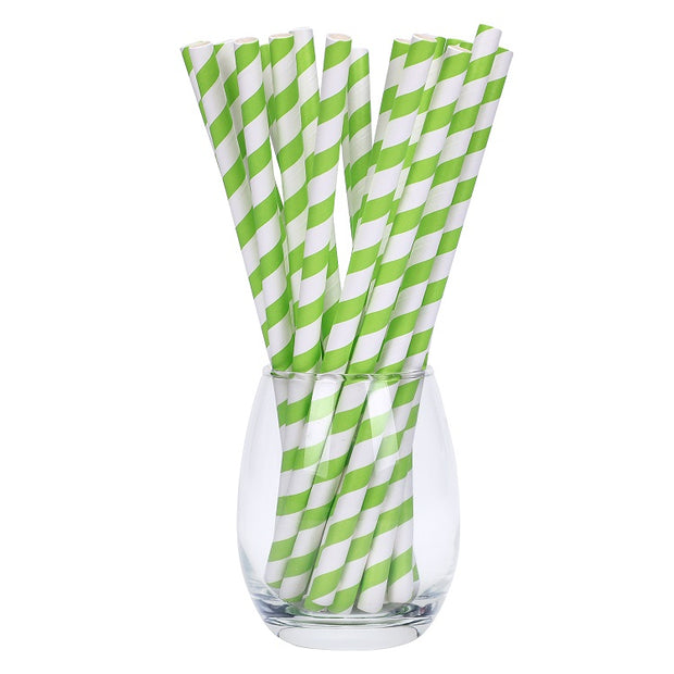 Cocktail Paper Straws - Plain/Striped/Customized Printing