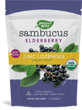 Load image into Gallery viewer, Sambucus Elderberry Zinc Lozenges Peppermint