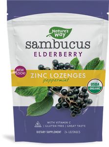 Sambucus Elderberry Zinc Lozenges Peppermint