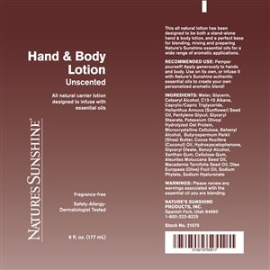 Hand & Body Lotion (6 Oz)