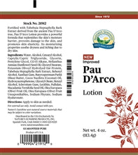 Load image into Gallery viewer, Pau D' Arco Lotion (4 Oz)