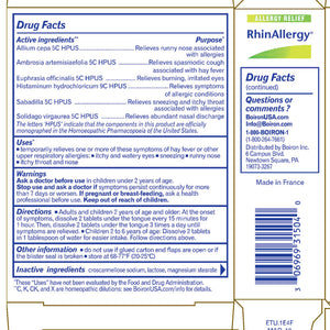 RhinAllergy® Tablets (formerly Sabadil®)