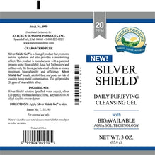 Load image into Gallery viewer, Silver Shield Gel (20 Ppm) (3 oz. Tube)