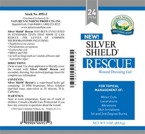 Silver Shield Rescue Gel (24 Ppm) (3 oz. Tube)
