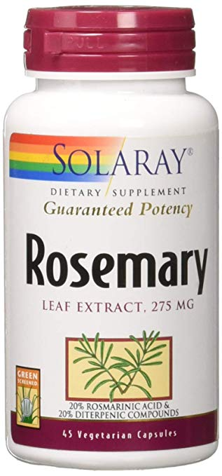 Rosemary Leaf Extract -- 275 mg - 45 Vegetarian Capsules