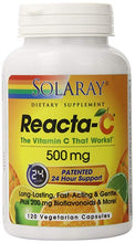 Load image into Gallery viewer, Reacta-C™ -- 500 mg - 120 Vegetarian Capsules