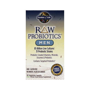 RAW Probiotics™ Men -- 85 billion - 90 Vegetarian Capsules