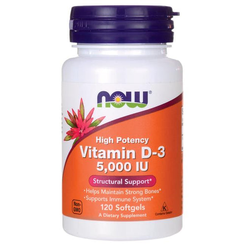 Vitamin D-3 -- 5000 IU - 120 Softgels