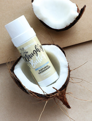 NAUGHTY BUTTER NATURAL DEODORANT (UNSCENTED)