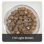 Silicone Lined Microrings Light Brown 11#