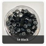 Silicone Lined Microrings Black 1#