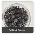 Silicone Lined Microrings Dark Brown 3#