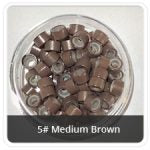Load image into Gallery viewer, Silicone Lined Microrings Medium Brown 5#