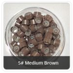 Silicone Lined Microrings Medium Brown 5#