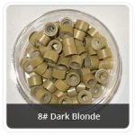 Load image into Gallery viewer, Silicone Lined Microrings Darke Blonde 8#