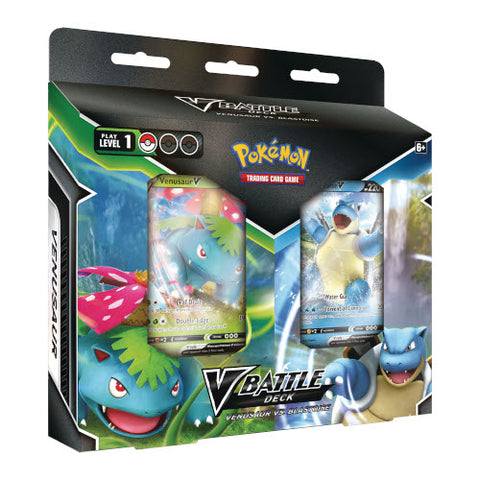 Pokemon Blastoise V & Venusaur V Battle Deck Bundle