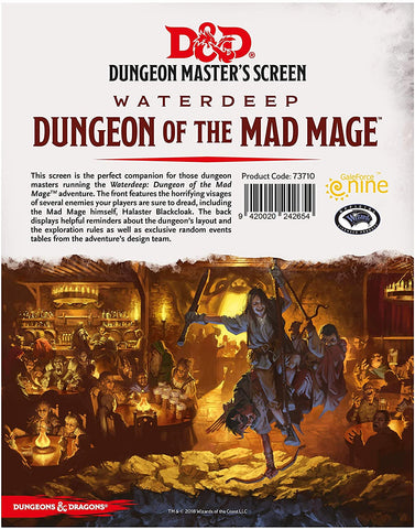 D&D Decent Dungeon Of The Mad Mage DM Screen