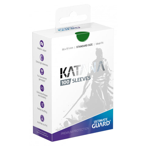 Ultimate Guard Katana Green Standard Size Sleeves 100pc