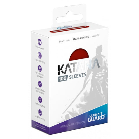 Ultimate Guard Katana Red Standard Size Sleeves 100pc