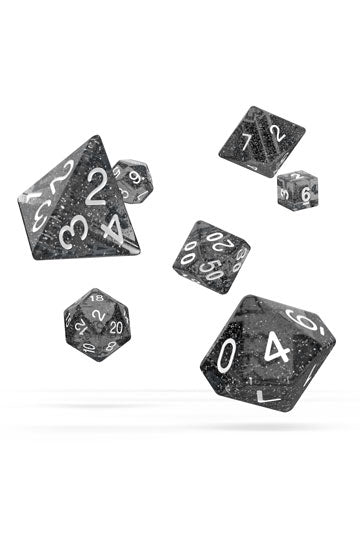 Oakie Doakie Dice RPG Set Speckled Black (7)