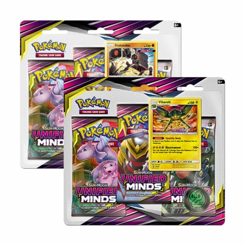 Pokemon Sun & Moon Unified Minds Triple Booster Blister