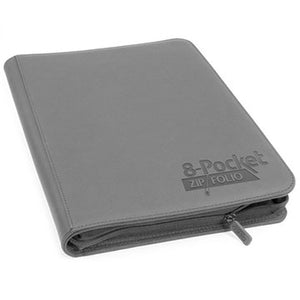 Ultimate Guard 8 Pocket Zipfolio XenoSkin Grey