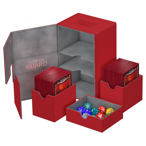 Ultimate Guard Twin Flip n Tray Xenoskin Deck Case Red