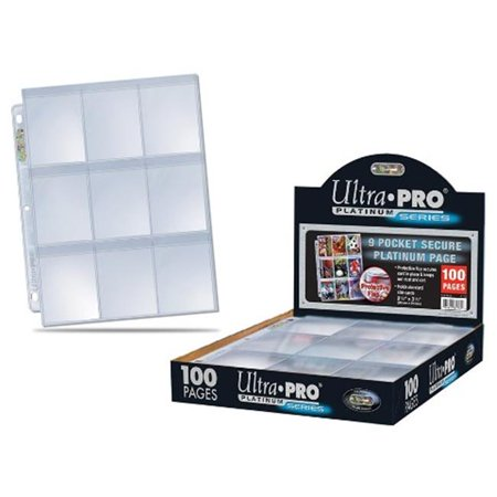 Ultra Pro Secure Platinum 9 Pocket Pages 3 Hole 100 Pages