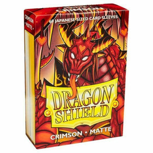 Dragon Shield Japanese Crimson Matte Sleeves 60pc