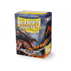 Dragon Shield Black Matte Non Glare Sleeves 100pc