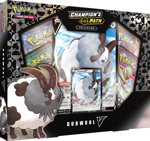 Pokemon Champion's Path Dubwool V Box