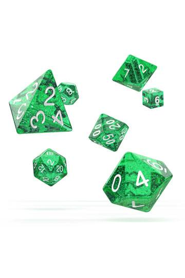 Oakie Doakie Dice RPG Set Speckled Green (7)