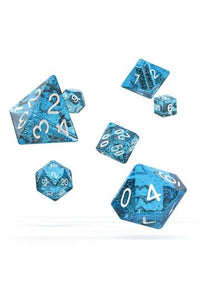 Oakie Doakie Dice RPG Set Speckled Light Blue (7)