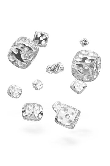 Oakie Doakie D6 Dice 12mm Translucent - Clear