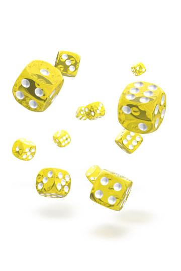 Oakie Doakie D6 Dice 12mm Translucent - Yellow