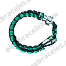 Load image into Gallery viewer, Green Black Pipe Bracelet