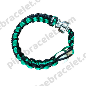 Green Black Pipe Bracelet