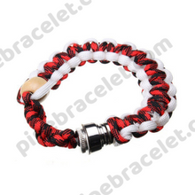 Load image into Gallery viewer, Red White Black Pipe Bracelet