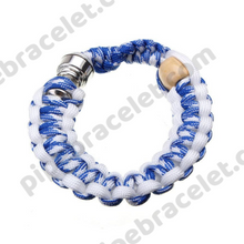 Load image into Gallery viewer, Blue White Pipe Bracelet